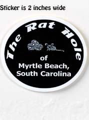 Rat Hole Small Black Sticker