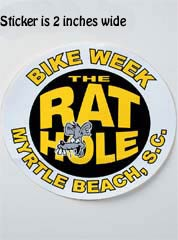 Rat Hole Small Yellow Sticker